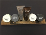 REF Deluxe Men's Grooming Collection with Wood Display